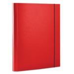Папка картонная на резинке Donau, А4, 40 мм, красный (2076001PL-04)