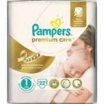 Подгузники Pampers Premium Care New Born Размер 1 (Для новорожденных) 2-5 кг, 22 шт (4015400687696)