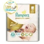 Подгузники Pampers Premium Care  New Born Размер 2 (Для новорожденных) 3-6 кг, 22 шт (4015400687733)