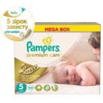 Подгузники Pampers Premium Care Размер 5 (Junior) 11-18 кг, 88 шт (4015400541813)