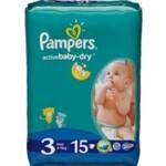 Подгузники Pampers Active Baby-Dry Размер 3 (Midi) 5-9 кг, 15шт (4015400583523)