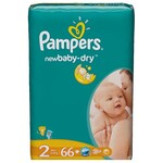 Подгузники Pampers New Baby-Dry Размер 2 (Mini) 3-6 кг, 66 шт (4015400649649)