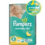 Подгузники Pampers New Baby-Dry Размер 2 (Mini) 3-6 кг, 68 шт (4015400735571)