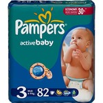 Подгузники Pampers Active Baby-Dry Размер 3 (Midi) 5-9 кг, 82 шт. (4015400265085)
