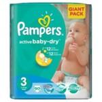 Подгузники Pampers Active Baby-Dry Размер 3 (Midi) 5-9 кг, 90шт (4015400736226)
