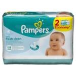 Детские влажные салфетки Pampers Fresh Clean Duo, 128 шт (4015400439202)