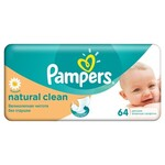 Детские влажные салфетки Pampers Natural Clean, 64 шт (4015400636830)
