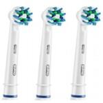 Cменные насадки для электрических зубных щеток Oral-B Cross Action EB50-3 2 шт + 1 шт (4210201135227)