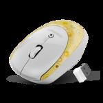 Мышь беспроводная Crown CMM-919W Yellow/White