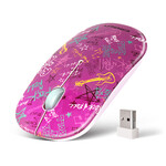 Мышь беспроводная Crown CMM-924W Pink