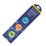 Комплект магнитов Buromax Цветной смайлик, 3шт, 30мм