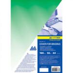 Обложки пластиковые Buromax, прозрачная, зеленая, А4, 180 мкм, 20 шт
