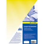 Обложки пластиковые Buromax, прозрачная, желтая, А4, 180 мкм, 20 шт