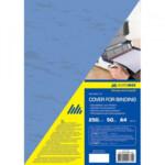 Обложки картонные Buromax, под кожу, синяя, А4, 250 г/м2, 20 шт