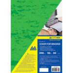Обложки картонные Buromax, под кожу, зеленая, А4, 250 г/м2, 20 шт