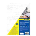 Обложки картонные Buromax, под кожу, белая, А4, 250 г/м2, 20 шт