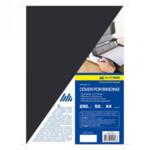 Обложки картонные Buromax, глянец, черная, А4, 250 г/м2, 50 шт