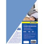 Обложки картонные Buromax, глянец, синяя, А4, 250 г/м2, 50 шт