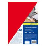 Обложки картонные Buromax, глянец, красная, А4, 250 г/м2, 50 шт