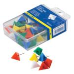 """Кнопки-гвоздики цветные Buromax, """"пирамида"""", 50 шт., пластиковый контейнер"""