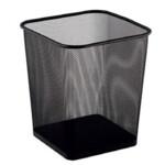 Корзина для бумаг Buromax, квадратная, 270x270x310мм, металлическая, черная