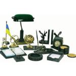 Набор настольный из зелёного мрамора Buromax, 16 предметов