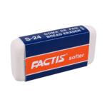 Ластик мягкий Factis Softer, синтетический каучук, белый (fc.24S)
