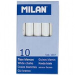 Мел белый Milan, 10шт., картонная коробка