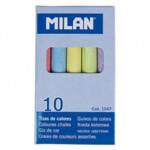 Мел цветной Milan, 10шт., картонная коробка