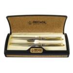 Комплект из перьевой ручки и ручки-роллера Regal, в пробковом футляре