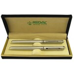 Комплект из перьевой ручки и ручки-роллера Regal, в бархатном футляре