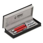 Комплект из перьевой ручки и ручки-роллера Regal, в подарочном футляре, красный