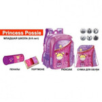Комплект ZiBi Princess Posie: рюкзак, сумка для обуви, пенал 1 отдля, + подарок
