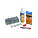 Набор для сухостираемых досок Magnetoplan Mini: 4 маркера, спрей, губка, магниты 4 шт