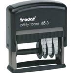 Датер со свободным полем Trodat 4813, пластик, 26х9 мм, 3,8 мм, укр