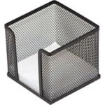 Бокс для бумаги Donau, металлический, черный, 105х105x90 мм