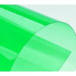 Обложки пластиковые Agent, прозрач, зеленые, Stripe, А4, 400 мкн, 50 шт (1511390)