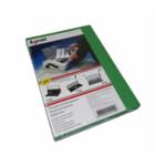 Обложки картонные Agent, под кожу, ярко-зеленые, А4, 230 г/м2, 100 шт (1521168)