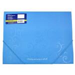 Папка пластиковая на резинках Buromax Barocco, А4, голубой (BM.3914-14)