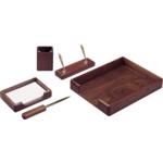 Набор настольный деревянный Bestar, 5 предметов, орех (5138WDN)
