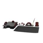 Набор настольный деревянный Bestar, 5 предметов, красное дерево (5257FDU)