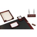Набор настольный деревянный Bestar, 6 предметов, красное дерево (6148XDU)
