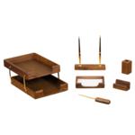 Набор настольный деревянный Bestar, 6 предметов, орех (6280WDN)