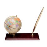 Глобус на деревянной подставке Bestar, красное дерево, 95 мм (0910WDM)