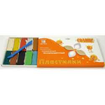 Пластилин Гамма 280040 Оранжевое солнце, 18 цветов, 220 гр, стек