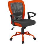 Кресло Office4You Leno Grey/Orange (27783)