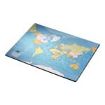 Подложка на стол Esselte 40*53см, карта мира (32184)
