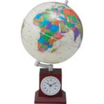 Глобус Bestar GOLD на деревянной подставке с часами (3385XJU)