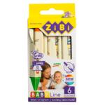 Карандаши восковые ZiBi Baby Line Jumbo треугольные 6 цветов (ZB.2483)