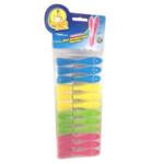 Прищепки пластиковые Фрекен Бок Для деликатной одежды 12 шт (4823071628616)